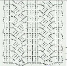 crochet scarf diagram - Buscar con Google
