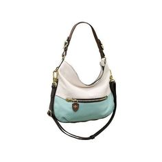 orYANY Ellie Italian Leather Hobo ($234) ❤ liked on Polyvore featuring bags, handbags, shoulder bags, white hobo handbags, leather shoulder bag, leather purse, genuine leather hobo handbags and hobo handbags