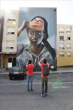 Beneath The Skin - Bajo La Piel - Street Art, Arte Urbana, Graffiti, O Bairro i o Mundo, Quinta do Mocho, Sacavém, Loures, Nomen.