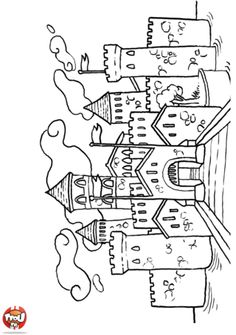 Architecture coloring pages and coloring on pinterest - Coloriage tfou ...