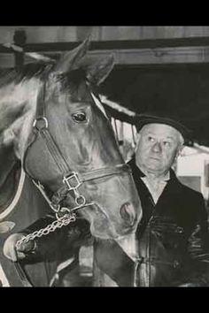 Secretariat with trainer Lucien Laurin