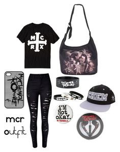 """MCR outfit"" by maximumtheawesome ❤ liked on Polyvore featuring WithChic"