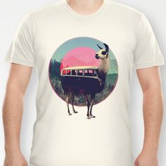 Llama T-shirt by Ali GULEC - $18.00