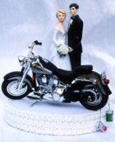 Cool motorcycle - Harley? Wedding cake topper.