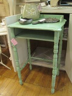 sweet green telephone stand, sold