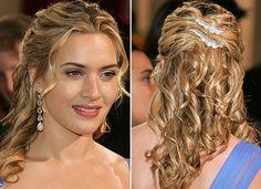 Penteados para cabelos médios para casamento