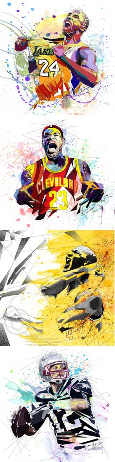 Looking for a gift for a basketball or football fan? Look no more - Contemporary abstract canvases prints by Katia Skye - a perfect gift for a friend or a loved one! easy.com/shop/katiaskye