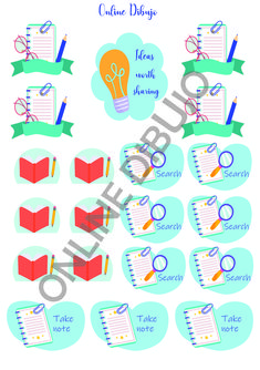 Printable Stickers, Some Fun, Bullet Journal