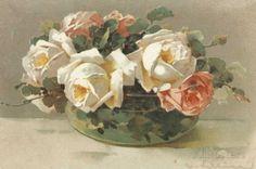 Corbeilles de Roses I Art Print