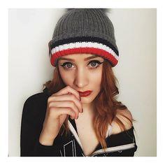 New Season Moncler Style Bobble Hat with Faux Fur
