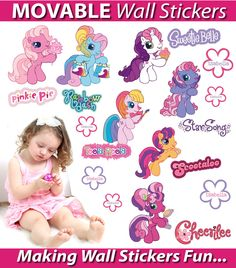 Wholesale Printers,  - Personalised My Little Pony Wall Stickers - Totally Movable, $9.95 (http://www.wholesaleprinters.com.au/personalised-my-little-pony-wall-stickers-totally-movable/)