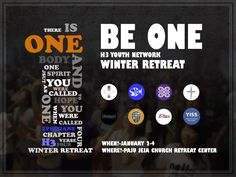 Retreat poster 'Be One'.
