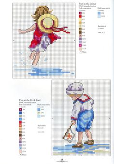 Children at Beach Cross Stitch Patterns free Cross Stitch Sea, Cross Stitch Boards, Cross Stitch For Kids, Cross Stitching, Cross Stitch Embroidery, Embroidery Patterns, Cross Stitch Designs, Cross Stitch Patterns, Cross Stitch Pictures