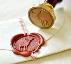 Deer Gold Plated Wax Seal Stamp + Sealing Wax