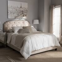Shop for Abbyson Royal Tufted White Queen/ Full Linen Headboard. Get free delivery On EVERYTHING* Overstock - Your Online Furniture Shop! Linen Headboard, Tufted Bed, Upholstered Beds, Full Headboard, Tufted Headboards, Bed Linen Inspiration, Woodland Crib Bedding, Ikea, Contemporary Fabric