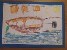 zeichnen im Kindergarten Piratenschiff