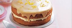 Orange cake with buttercream filling and orange juice icing. The richness of this sponge filled with buttercream is balanced with the refreshing orange juice in the icing and the grated zest on top. Asda Recipes, Best Cake Recipes, Sweet Recipes, Baking Recipes, Buttercream Filling, Sugar Icing, Orange Recipes, Cake Tins, Some Recipe