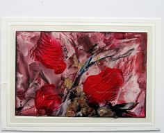 free shipping ORIGINAL Encaustic abstract Floral by StudioSabine, $20.00