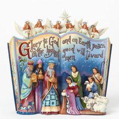 Jim Shore Nativity Story Storybook Scene with Angels Christmas Figurine 4041099 | eBay