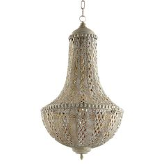 The Tangier Pendant from Cyan Design is part of a unique line which emphasizes vibrant interior design. Cyan Design has a creative assortment of lighting, furniture and home décor that ranges in color and style to ensure that you will have original and imaginative design pieces to fill your home. Beautiful Objects for a Beautiful Life.  Finish: Antique Silver Material: Iron