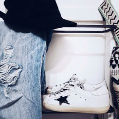GGDB + ripped denim Ripped Denim, Adidas Stan Smith, Adidas Sneakers, Photo And Video, Instagram, Fashion, Casual Dress Outfits, Adidas Tennis Wear, Moda