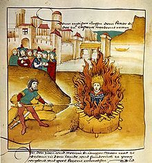 Spiezer Chronik Burning of Jan Hus at the stake in Konstanz Jewish History, Church History, Ancient History, Jan Hus, English Reformation, Edith Stein, Maleficarum, Constantine The Great, Protestant Reformation