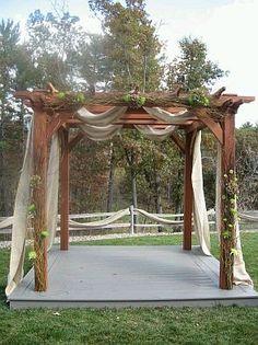 decorate a pergola for wedding - Google Search