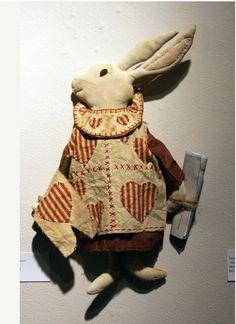 Primitive Alice in Wonderland White Rabbit by Rabbithollowprims, $65.00