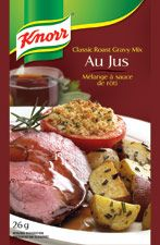 Au Jus by Knorr. This! I use this to roast beef in the oven or in slow cooker with cheap cut of beef to shred for philly cheese sands, tonight I used it to make mushroom gravy for hamburgers with swiss. Love this stuff!