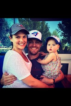 Stephen Amell and family.  You can see the love!