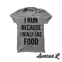 I Run Because I Really Like Food Exercise Shirt Workout Shirt Fitness... ($20) ❤ liked on Polyvore featuring tops, t-shirts, black, women's clothing, cotton blend t shirts, vintage style t shirts, shirt top, unisex shirts and unisex tops