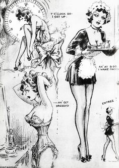 John Willie : Diary of a French Maid c. 1948-1950
