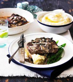 Steak with Mushroom and Garlic Sauce!