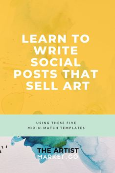 this is great because it teaches you how to get the word out about your art and how to engage with l larger audience Selling Art Online, Online Art, Art For Sale Online, Sales And Marketing, Social Media Marketing, Facebook Marketing, Learning To Write, Teaching Art, Business Advice