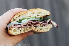 Hickory Smoked Flank Steak Sandwiches from Gabon.