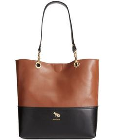 Emma Fox Jutland Leather Colorblocked North South Tote I own this love it, fits my huge IPad and still looks amazing.