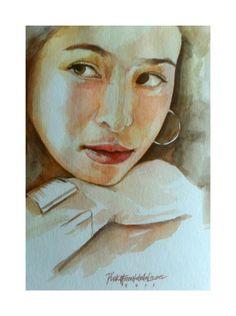 """My Bringer of Joy""  Watercolor Portrait by: PinkyFLizares"