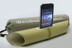 iBamboo iPhone speaker, no electricity needed !