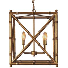 Square Bamboo Lantern - 4 Light