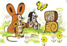 #Krtek -  is an animated character in a series of cartoons, created by Czech animator Zdeněk #Miler in 1956