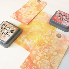 Imprinting with Distress Oxides and a stencil - My mixed media art journey Distress Oxide Ink, Tim Holtz, Medium Art, Mixed Media Art, Stencils, Coloring, Journey, Mixed Media, The Journey
