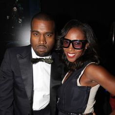 June Ambrose with Kanye West at a Rocawear party in New York, New York, June 2010. Photo by Getty Images.-Wmag