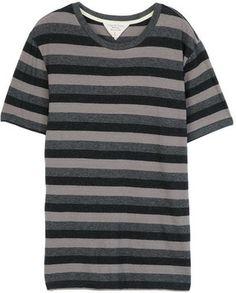 Triple Stripe Tee - Grey Heather on shopstyle.com