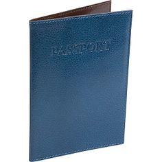 #TravelAccessories, #TravelWallets, #TUSKLTD - TUSK LTD Leonardo Passport cover - Blue/Chocolate