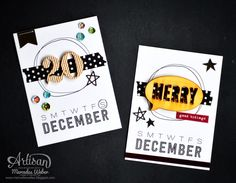 Stop by the Stampin Up Artisan Blog Hop to see this weeks projects using the Hello December Project Life products! | Creations by Mercedes Weber