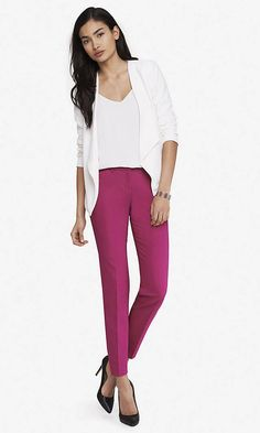 Ultimate Double Weave Editor Ankle Pant   Express