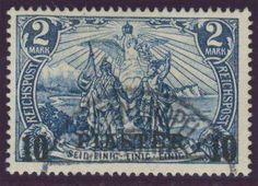 German Colonies, DP-Türkei 1900/04, 10 PIASTER (mit Dach) auf 2 Mk., Typ I, gestempelt Pracht, gepr. Bothe BPP (gest., Mi.-Nr.21 II/I/Mi.EUR 340,--). Price Estimate (8/2016): 100 EUR.