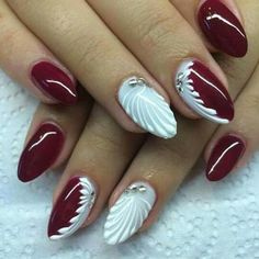 Winter Nails Designs - My Cool Nail Designs Great Nails, Perfect Nails, Gorgeous Nails, Cute Nails, Amazing Nails, Xmas Nails, Holiday Nails, Christmas Nails, Winter Nail Designs