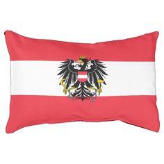 Austrian flag small dog bed