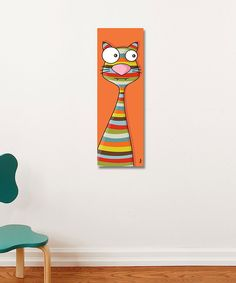 Orange Stripe Cat Canvas   Daily deals for moms, babies and kids